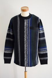 <img class='new_mark_img1' src='https://img.shop-pro.jp/img/new/icons47.gif' style='border:none;display:inline;margin:0px;padding:0px;width:auto;' />sacai<br>Mexican Knit  Stripe Pullover