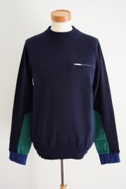 <img class='new_mark_img1' src='//img.shop-pro.jp/img/new/icons47.gif' style='border:none;display:inline;margin:0px;padding:0px;width:auto;' />sacai<br>Cotton Knit PULLOVER<br>【NAVY】
