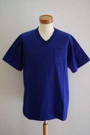 sacai<br>V-NECK TEE-CUPRO<br>「BLUE」<br>【30%OFF】