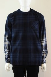 <img class='new_mark_img1' src='//img.shop-pro.jp/img/new/icons47.gif' style='border:none;display:inline;margin:0px;padding:0px;width:auto;' />sacai man<br>FLANNEL PLAID PULLOVER<br>【3カラー】