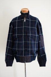 <img class='new_mark_img1' src='//img.shop-pro.jp/img/new/icons20.gif' style='border:none;display:inline;margin:0px;padding:0px;width:auto;' />sacai man<br>Windowpane Knit Jacket<br>【NAVY】