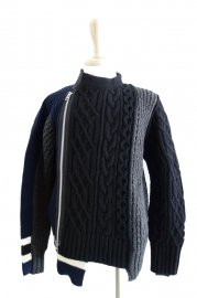 <img class='new_mark_img1' src='//img.shop-pro.jp/img/new/icons47.gif' style='border:none;display:inline;margin:0px;padding:0px;width:auto;' />sacai<br>Cable Knit Pullover<br>【2カラー】