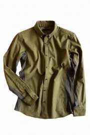 <img class='new_mark_img1' src='//img.shop-pro.jp/img/new/icons2.gif' style='border:none;display:inline;margin:0px;padding:0px;width:auto;' />junhashimoto<br>MINI BD COLLAR SHIRT<br>【KHAKI】
