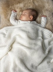 <img class='new_mark_img1' src='https://img.shop-pro.jp/img/new/icons2.gif' style='border:none;display:inline;margin:0px;padding:0px;width:auto;' />BAREFOOT DREAMS<br>Waffle Baby Blanket