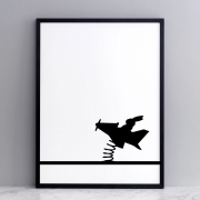 <img class='new_mark_img1' src='https://img.shop-pro.jp/img/new/icons2.gif' style='border:none;display:inline;margin:0px;padding:0px;width:auto;' />Flying Rabbit Print