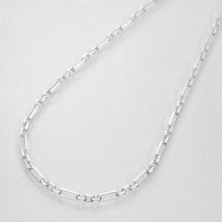 w10s1677-25-50 (10本セット) アンカー フィガロ チェーン ネックレス 幅 2.5 mm 長さ 50 cm シルバー 925