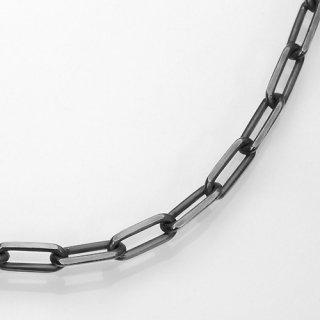 a1521-45-18 ブラック(燻し)4面カットロング(長)あずきチェーンブレスレットシルバー925幅4.5ミリ全長18cm
