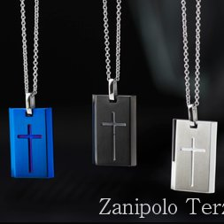 a1561 Zanipolo Terzini ザニポロ タルツィーニ クロスプレートネックレスチェーン付