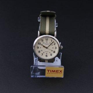 TIMEXタイメックス Weekenderウィークエンダー 38mm クリームダイアル オリーブ/ブラウン