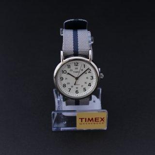 TIMEXタイメックス Weekenderウィークエンダー 38mm ホワイトダイアル ブルー/グレー