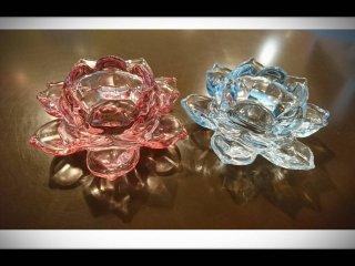 ガラスの花型ベース