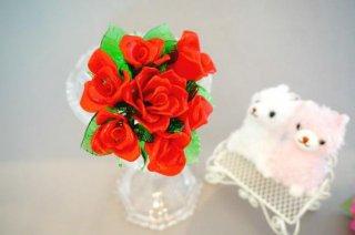 ガラスのバラの花