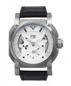 アウトレット 半額 ヴィスコンティ 2スクエアード GMT デュアルタイム グランド デイト エレガンス W102-04-104-010 腕時計 メ