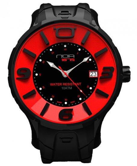 ワケあり アウトレット ノア イリス ブラック IRBP002 腕時計 メンズ NOA IRIS BLACK ※入荷時期によってストラップはラバーまたはレザーとなりま…