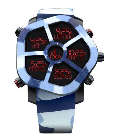 ジェイコブ ゴースト JC-GST-CAMOBL カモフラージュカラーブルー 腕時計 メンズ JACOB&CO GHOST デジタル 5time zo…