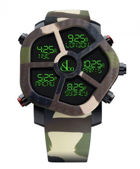 ジェイコブ ゴースト JC-GST-CAMOGR カモフラージュカラーグリーン 腕時計 メンズ JACOB&CO GHOST デジタル 5time zo…
