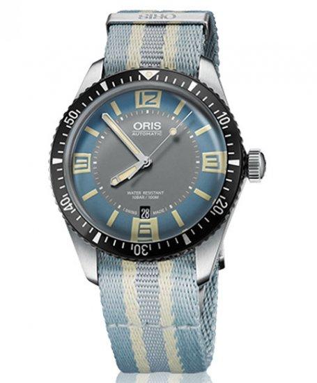 オリス ダイバーズ65 733 7707 4065DBL (NATOテキスタイル) 腕時計 ブルーダイヤル メンズ 自動巻 Oris Divers Sixty-Five