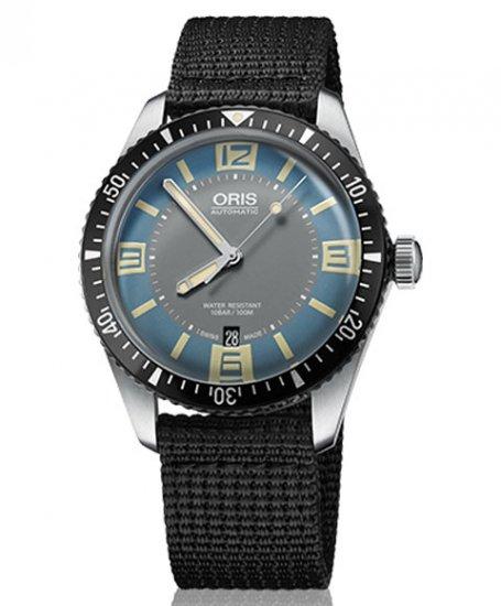 オリス ダイバーズ65 733 7707 4065F (テキスタイル/ブラック) 腕時計 ブルーダイヤル メンズ 自動巻 Oris Divers Sixty-Fi…
