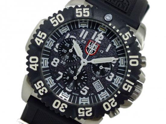 ルミノックス  クロノグラフ 腕時計 3181 ブラック&ホワイト LUMINOX