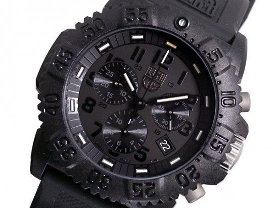 ルミノックス  ネイビーシールズ クロノグラフ 腕時計 3081 BLACK OUT LUMINOX