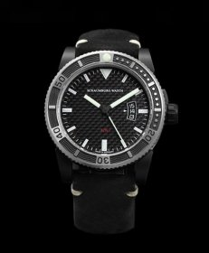 シャウボーグ AQM4 CARBON PVD カーボン 腕時計 メンズ SCHAUMBURG