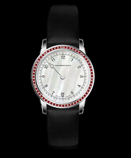 シャウボーグ GNOMONYK-LYRD  ウーマンパッションレッド WOMAN PASSION REDトパーズ 腕時計 レディース SCHAUMBURG GNOMON…