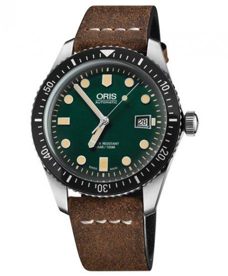 オリス ダイバーズ65 733 7720 4057F (カーフ/ブラウン) メンズ 腕時計 自動巻 Oris Divers Sixty Five