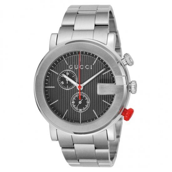 グッチ GUCCI Gクロノ クオーツ メンズ 腕時計 YA101361 ブラック