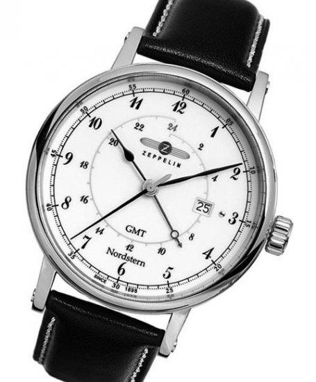 ツェッペリン ノルドスタン GMT 7546-1 腕時計 メンズ ZEPPELIN NORDSTERN