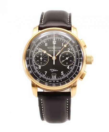 ツェッペリン 7676-2 クロノグラフ 腕時計 メンズ ZEPPELIN ツェッペリン号誕生 100周年記念モデル