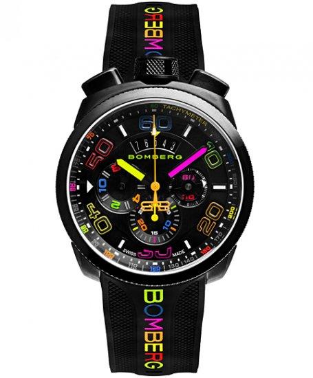 海外取寄せ(納期:約3〜4か月後)  ボンバーグ BOLT-68 クロマ ネオン BS45CHPBA.049.3 クォーツ クロノグラフ 腕時計 メンズ BOMBERG CHROMA NEON