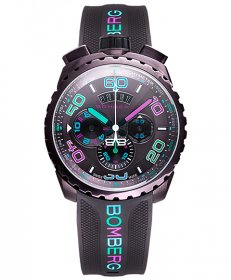 特価品 55%OFF! ボンバーグ BOLT-68 クロマ アイスブラウン BS45CHPBR.049-3.3 クォーツ クロノグラフ 腕時計 メンズ BOMBERG CHROMA BROWN ICE