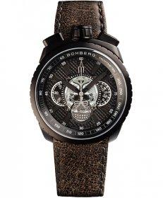 特価品 55%OFF! ボンバーグ BOLT-68 スカル リミテッドエディション BS47CHAPBA.024-2.3 自動巻 クロノグラフ 腕時計 メンズ BOMBERG