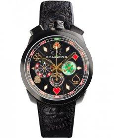 特価品 55%OFF! ボンバーグ BOLT-68 ギャンブラー マカオ リミテッドエディション BS45CHPBA.033.3 クォーツ クロノグラフ 腕時計 メンズ BOMBERG