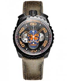 特価品 55%OFF! ボンバーグ BOLT-68 ブルースカル リミテッドエディション BS45CHPBA.051.3 クォーツ クロノグラフ 腕時計 メンズ BOMBERG