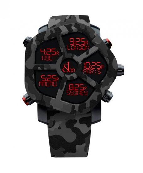 ジェイコブ ゴースト JC-GST-CAMOBK カモフラージュカラーブラック 腕時計 メンズ JACOB&CO GHOST デジタル 5time zo…