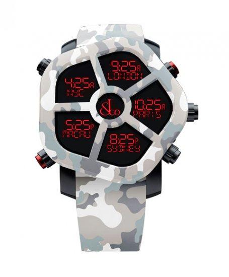 ジェイコブ  ゴースト JC-GST-CAMOGY カモフラージュカラーブラック 腕時計 メンズ JACOB&CO GHOST デジタル 5time zo…