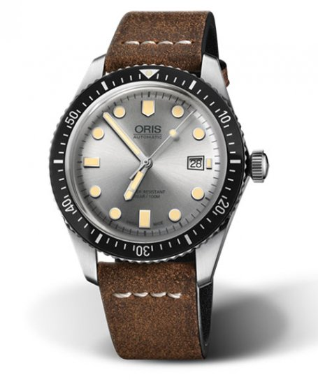 オリス ダイバーズ65 73377204051F (カーフ/ブラウン) メンズ 腕時計 自動巻 Oris Divers Sixty Five