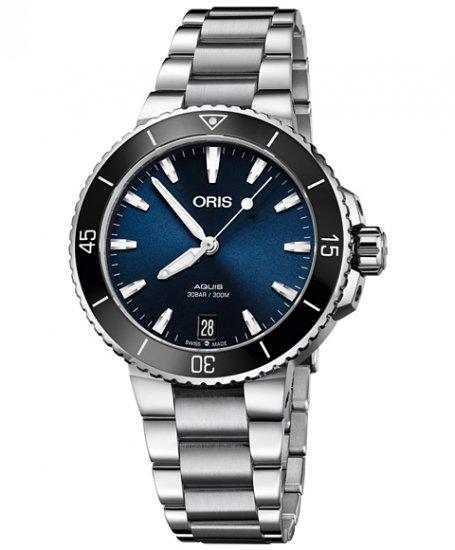 オリス アクイス デイト 733 7731 4135M レディース 腕時計 ORIS Aquis Date73377314135M