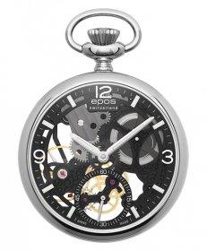 エポス スモール モダン スケルトン ポケットウォッチ 2003SKBK 懐中時計 メンズ epos Small Modern Skeleton Pocket Watch