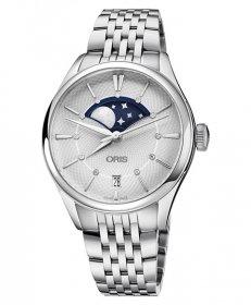 オリス アートリエ グランデリュヌ デイト 763 7723 4051M(ブルー) レディース 腕時計 自動巻き ORIS Artelier
