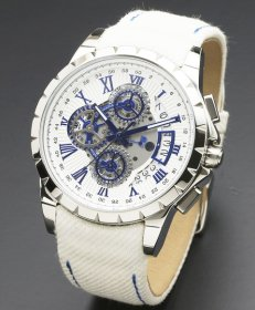 サルバトーレマーラ SM13119D-SSWHBL/WH 腕時計 メンズ Salvatore Marra