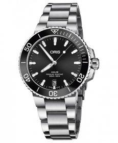 オリス アクイス デイト 73377324134M レディース 腕時計 ORIS Aquis Date 733 7732 4134M ダイバーズ メタルブレス