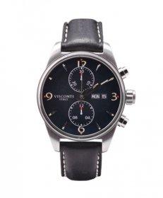 特価 73%OFF! ヴィスコンティ ローマ60'Sクロノ KW21-04 腕時計 自動巻 メンズ ビスコンティ VISCONTI ROMA 60'S CHRONO レザーストラップ