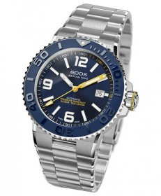 エポス スポーティブ ダイバー 3441ABLM 腕時計 メンズ 自動巻 epos SPORTIVE DIVER