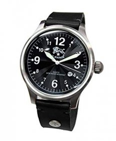 イルビゾンテ H0252 135/NERO ブラック 黒 腕時計 メンズ クオーツ IL BISONTE レザーストラップ
