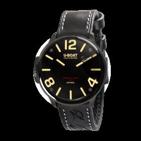 ユーボート カプソイル DLC 8108 腕時計 メンズ U-BOAT CAPSOIL DLC レザーストラップ