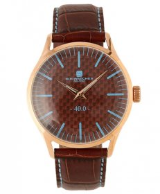 BHウォッチ ミラノ W40RGBRLB 腕時計 ユニセックス B.H.WATCHES MILANO メンズ レディース レザーストラップ ゴールド