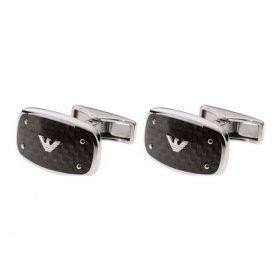 エンポリオアルマーニ cuffs EGS1599040 シルバー×ブラック ジュエリー EMPORIO ARMANI カフス メンズ