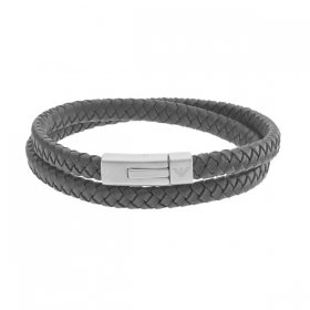 エンポリオアルマーニ bracelet EGS2176040 ブラック×マットシルバー ジュエリー EMPORIO ARMANI ブレスレット ユニセックス